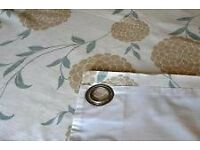 Laura Ashley Erin eau de nil eyelet curtains, like new