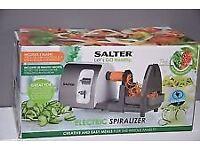Salter Electric Spiralizer EK2299. Brand New. In Unopened Box. Fruit & Veg Spiralizer 15W