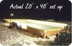 BUILD YOUR RINK BEFORE THE GROUND FREEZES NiceRink Backyard Ice Hockey Rink in a Box 20' x 40' FREE SHIPPING 20 X 40