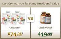Vitamins and minerals, great value, less cost, delivered to you