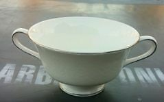 """WEDGWOOD """"SILVER ERMINE"""" HANDLED SOUP CUP / BOWL"""