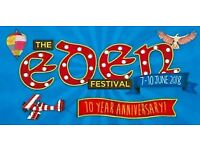 EDEN FESTIVAL 2 x weekend Camping tickets for sale Scotland 7-10th June 2018