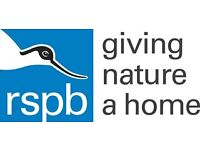 RSPB Pin Badge Box Volunteer - join our amazing volunteer community to help give nature a home!