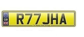 **R77 JHA** Asian Name Number Plate For Sale!!