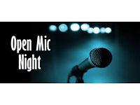 Last calling for singers: open mic thursday 8th december