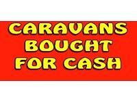 Caravans Touring 2 berth 3 or 4 berths Wanted for cash
