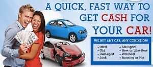 WE PAY CASH FOR YOUR SCRAP VEHICLES $50-$15000