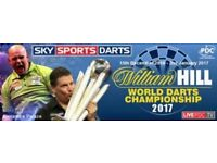 William Hill World Darts Championship 2017/18 - 1x Preliminary & 3x First Round - Tribune B Row F