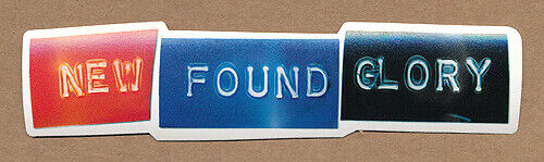 New Found Glory Self-Titled RARE promo sticker 2000