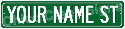 Your Name St. Clean Personalized Green Street Sign Metal 4x18 4180177