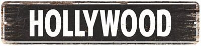 Hollywood Vintage Look Personalized Metal Sign Chic 4x18 - Personalised Hollywood Sign