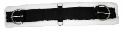 """32"""" Western Thick Soft Fleece Super Girth Cinch w Stainless Dee Rings BLACK"""
