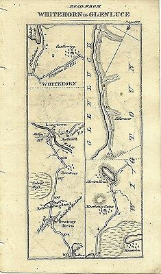 Antique map, Whitehorn to Glenluce