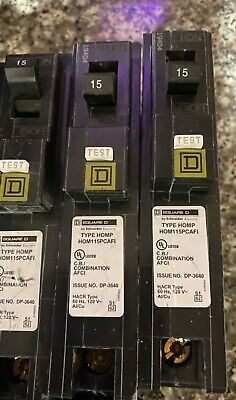 Lot of 5 General Electric THQP115 1p 15a 120v Circuit Breaker Used 1yr Warr