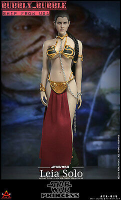 Leia Slave Outfit (1/6 Star Wars Princess Leia Organa Head Slave Outfit Set For Hot Toys PHICEN)