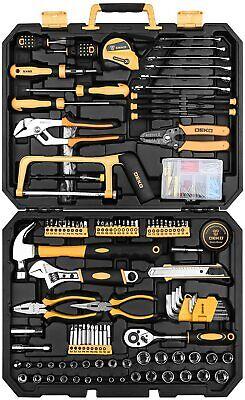 DEKOPRO 198 Piece Home Repair Tool Kit, Wrench Plastic Toolbox with General Hous