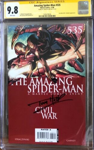 Amazing Spider-Man #535 Iron Spider_CGC 9.8 SS_Signed by Tom Holland - Avengers