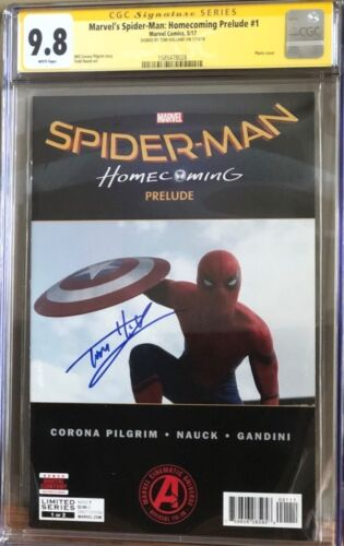 Marvel's Spider-Man: Homecoming Prelude #1__CGC 9.8 SS__Signed by Tom Holland