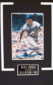 Duke Snider Autograph Photo
