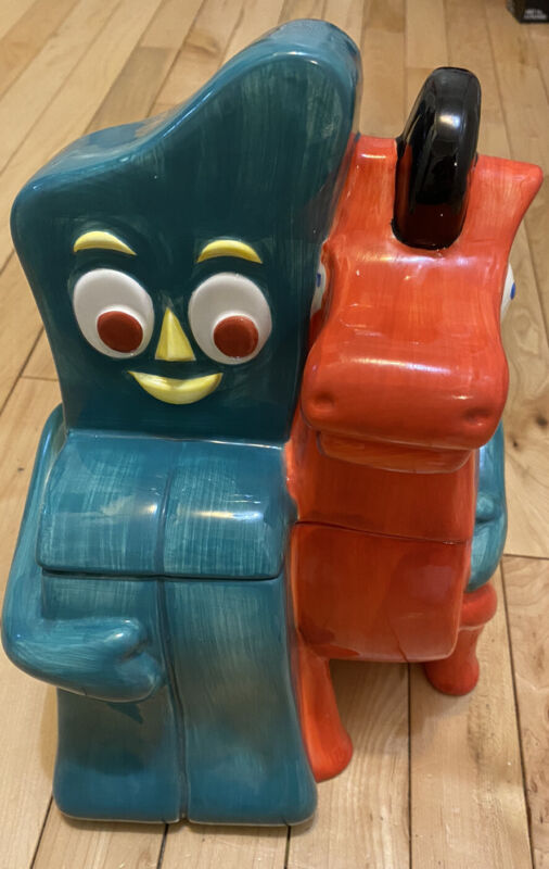 Gumby And Pokey Figure Cookie Jar 1997 Clay Art SAN FRANCISCO