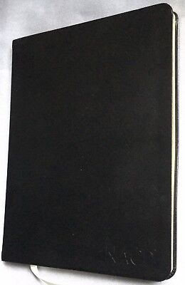 Leather Cover Business Notebook - Black Lined 1