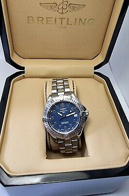 Breitling Colt Ocean A17050 Automatic Box and Papers Men Watch blue face