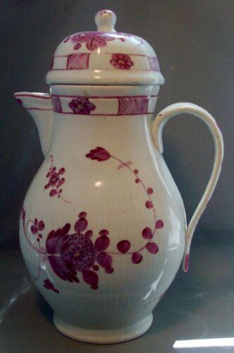 Antique 18th century German Porcelain Tea Urn Chocolate Pot Puce Gilt Meissen
