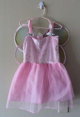 Butterfly Ballerina Costume (Butterfly Ballerina Princess Girl Costume Pink Fairy Halloween Dress-Up Size)