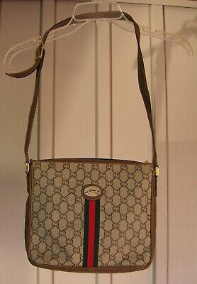 Vintage Gucci Plus Web Cross Body Bag w/ Dust Bag & Passport/Certificate