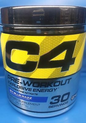 Cellucor C4 Explosive Energy G4 Pre-Workout Icy Blue Razz  30 Serving Clumpy