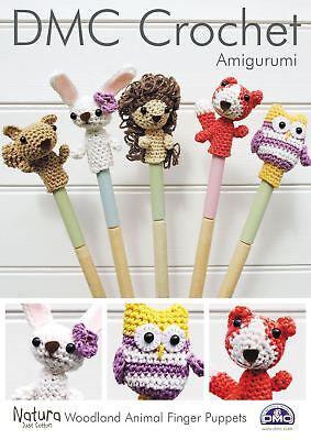 DMC Amigurumi: Woodland Animal Finger Puppets Crochet Pattern - Crochet Finger Puppets