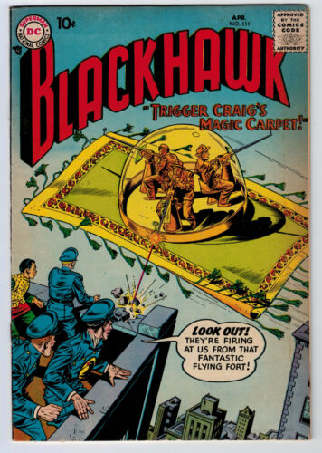 BLACKHAWK #111 5.0 OFF-WHITE PAGES SILVER AGE