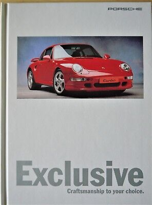 Porsche 1995/6 Exclusive Sales Brochure (Craftsmanship to your choice) WVK143220