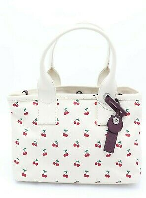 NWT MARC by Marc Jacobs Cherry Fruit Embroidered Canvas Tote Shoulder Bag $278