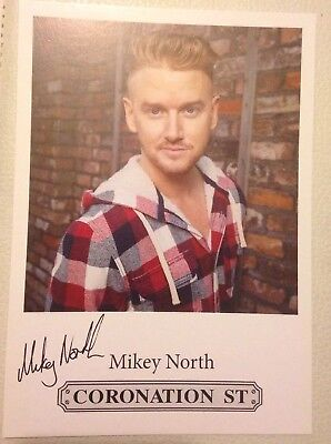 Mikey North  Printed Coronation Street Castcard  As Gary 6x4