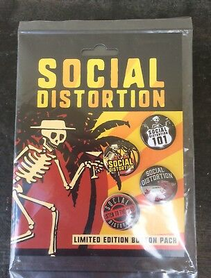 Social Distortion Limited Edition Button Pack New 2017