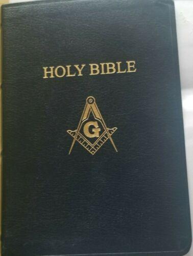 Master Mason Edition Black Candidate Bible  Masonic 5.5 wide 8 tall