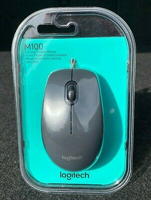 Logitech M100 (910001601) Wired Optical Mouse (brand new in packaging) SEE DESCP