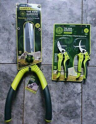 Spear&jackson kew garden wishbone hand shears & twin pack secateurs set