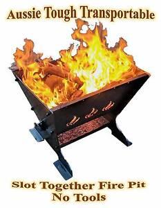 Flame Fire Pit Cooker Shepparton Shepparton City Preview