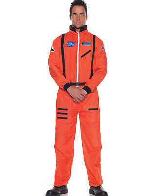 Astronaut Orange Nasa Astronautanzug Herren Overall Halloween - Herren Orange Astronaut Kostüm