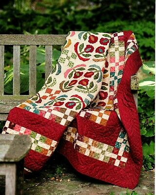 Meadow Lily Quilt Pattern Pieced/Applique - Lily Quilt Pattern
