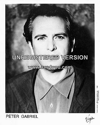 "Peter Gabriel 10"" x 8"" Photograph no 5"