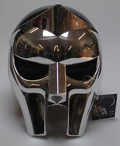 3db191b76f54 MF Doom Mask Gladiator Plastic Chrome Hip Hop Prop