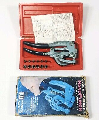 Roper Whitney No 5 Jr Metal Hand Punch Set Black Handle. 2400 Of Punch Power