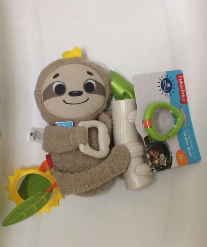 BNWT Fisher Price Slow Much Fun Stroller Sloth Activity Baby Toy