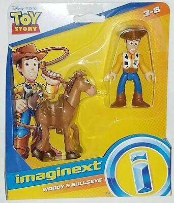 Woody & Bullseye Horse Toy Story 4 Movie Imaginext Figures HTF Toddler Toy