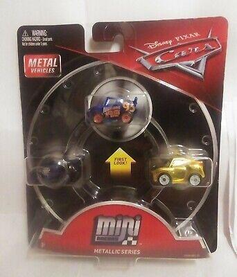 Disney Pixar Cars 3 Pack Mini Metal Racers Metallic Series Lightning McQueen