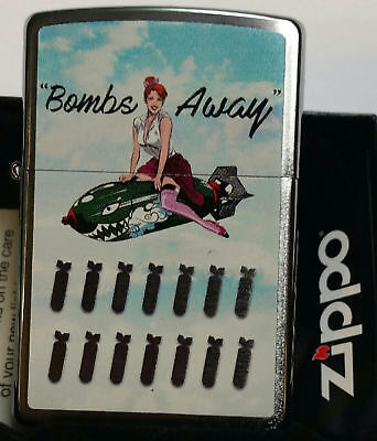 (Zippo Lighter Girl Pin Up Bombs Away 1 New In Box Limited Edition NEW)