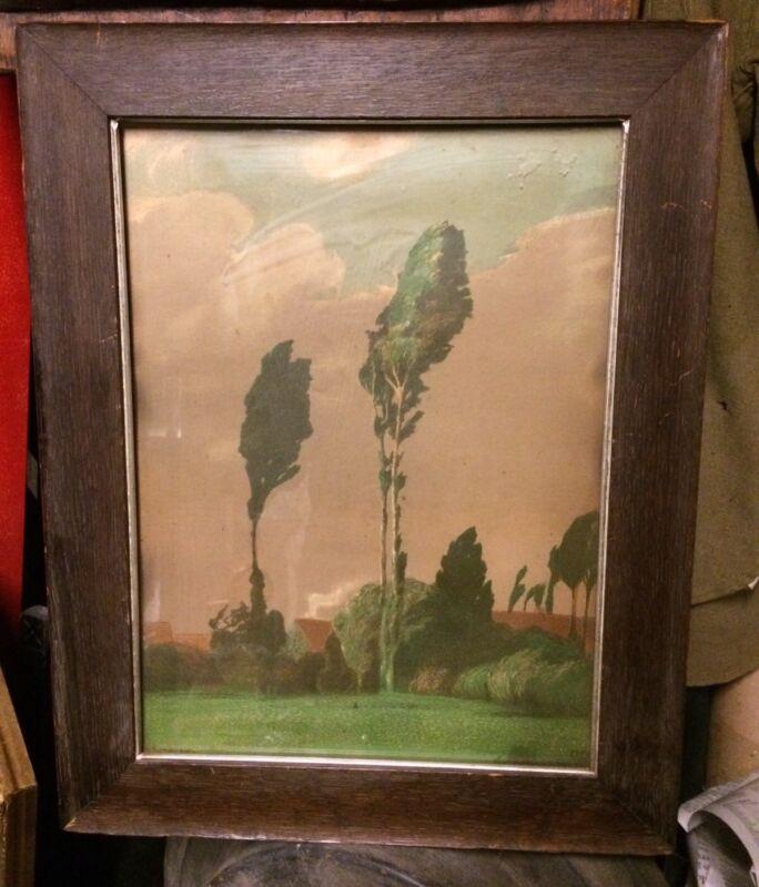 "Rare Old Gustav Kampmann German Print Arts & Crafts 20"" x 16"""